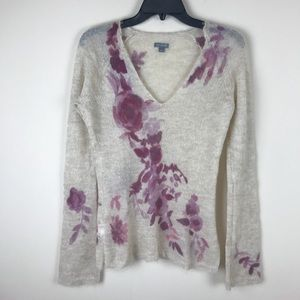 =ANN TAYLOR= MOHAIR WOOL SWEATER S